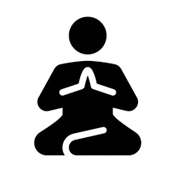 meditierende Person