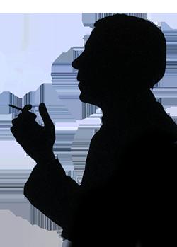 Raucher_Silhouette