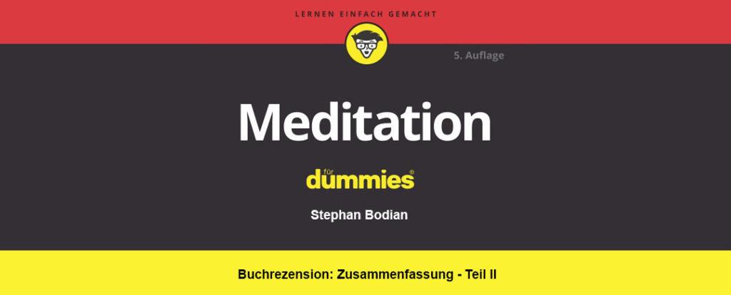 meditation für dummies coverbild
