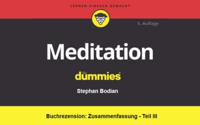Buchrezension: Meditation für Dummies | Inhalt Teil III